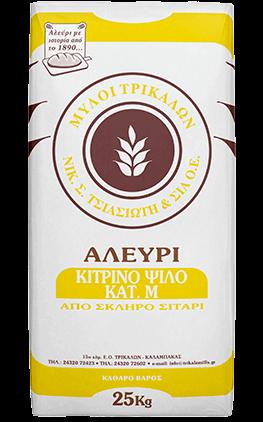 Product image Αλεύρι Κίτρινο Ψιλό Κατηγορίας Μ. 25 kg