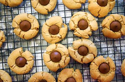 Recipe image Μπισκότα με φυστικοβούτυρο και σοκολάτα